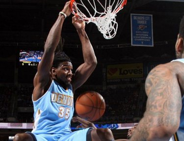 NBA Highlight: Kenneth Faried Delivers Man-Sized Dunk