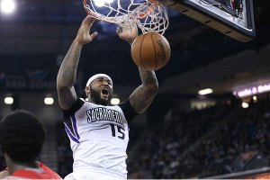 DeMarcus Cousins Throws Down Monster Dunk On Jae Crowder