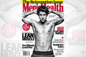Justin Bieber Covers Men's Health April 2015 Issue