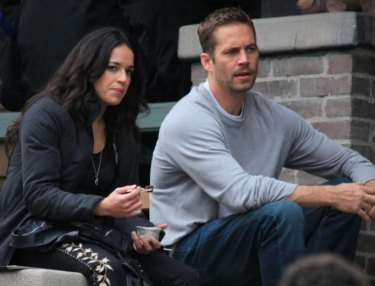 Michelle Rodriguez and Paul Walker