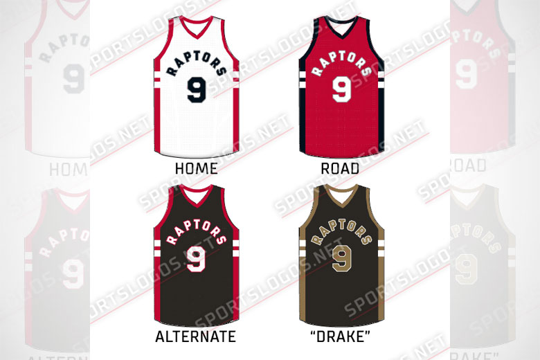 Leaked Toronto Raptors uniform designs