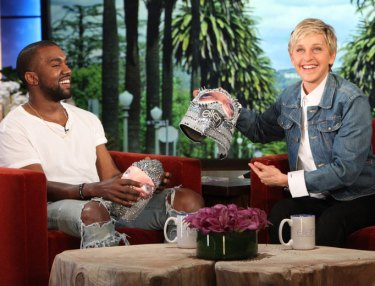 Kanye West and Ellen DeGeneres