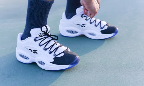 Closer Look At Reebok Classic's Question Low (Black/White)