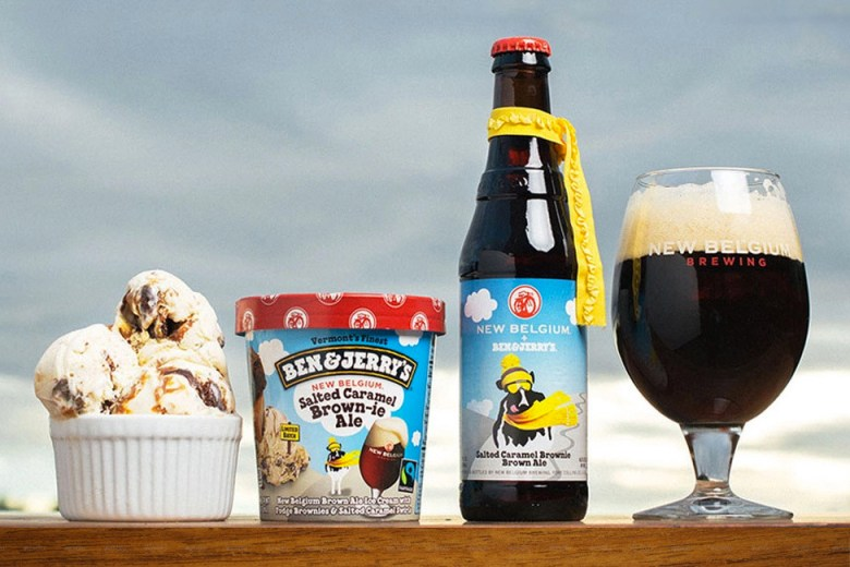 New Belgium x Ben & Jerry's Salted Caramel Brownie Ale