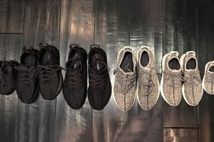 Kim Kardashian Shows Off Only Official Baby Yeezy Boost 350s