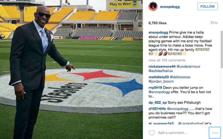 Snoop wants to sign with Under Armour