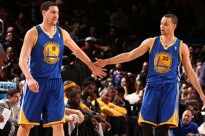 Klay Thompson and Stephen Curry