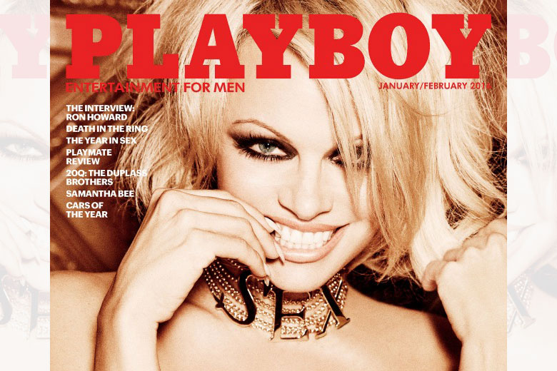 Pamela Anderson on final nude Playboy issue.