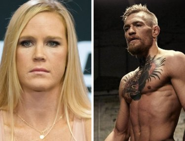 Holly Holm and Conor McGregor