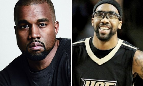 Marcus Jordan and Kanye West
