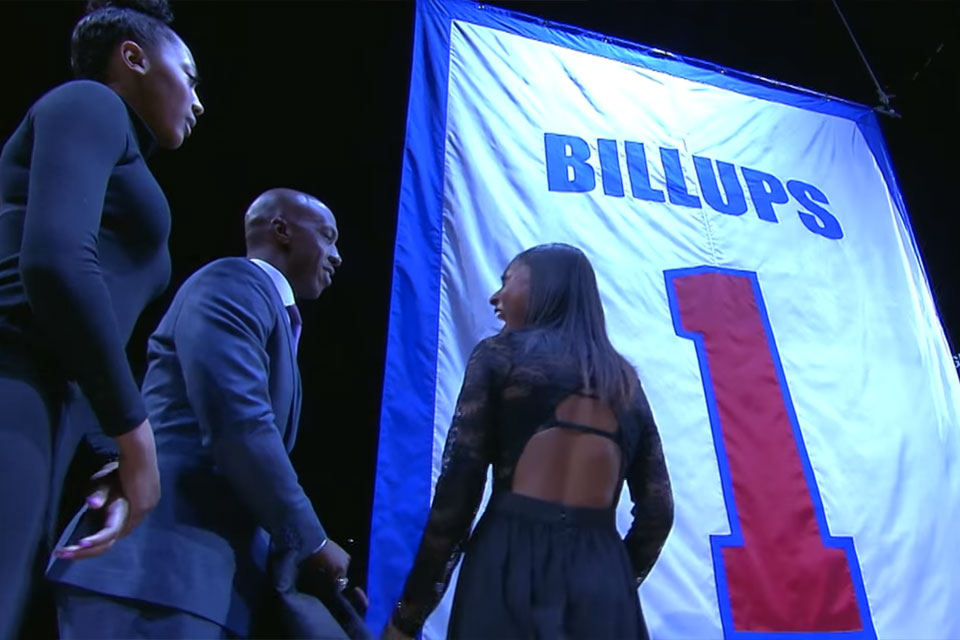 watch 75b08 010fd Detroit Pistons Retire Chauncey Billups' No. 1 Jersey