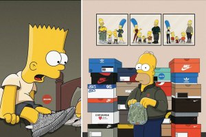 The Simpsons Imagined As Sneakerheads
