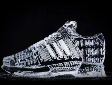 JD Sports Creates Adidas Climacool Ice Sculpture