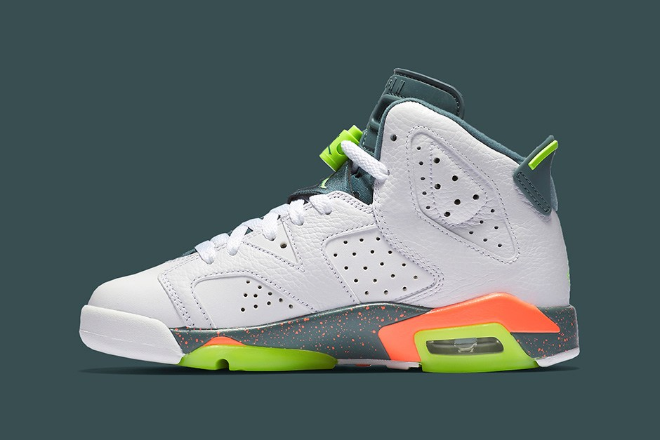 59d15ba740c8 Air Jordan 6 GS -- Ghost Green Hasta Bright Mango