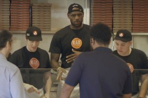 LeBron James Poses As Pizza Restaurant Employee at Blaze Pizza