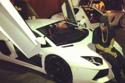 Tyga and his Lamborghini