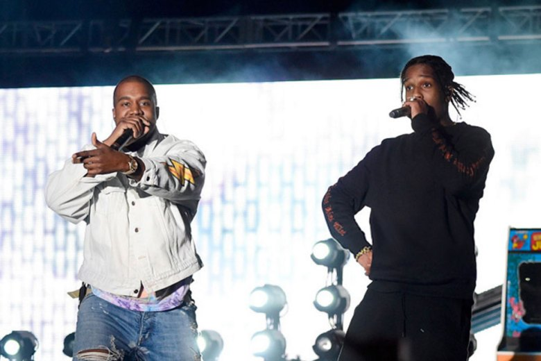 Kanye West and A$AP Rocky perform at Coachella 2016