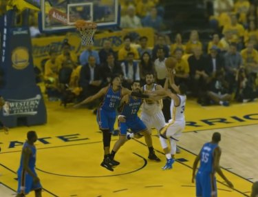 Steph Curry's Shot Replayed in 360 by Intel