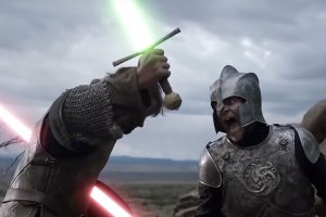 Game of Thrones x Star Wars Mash-Up: Lightsabers as Swords