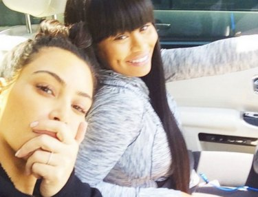 Kim Kardashian and Blac Chyna