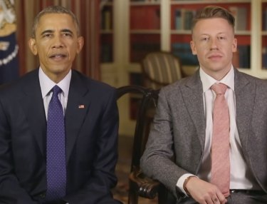 President Obama and Macklemore