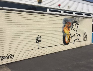 Banksy Resurfaces With Mural at Bristol Primary School