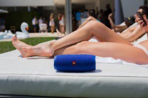 Poolside With JBL's New WaterProof Speaker, the Charge 3