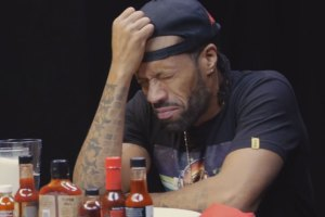 Redman Wilds Out Eating Spicy Hot Wings