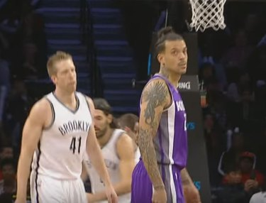 Matt Barnes Unintentionally Sinks 3 During Alley Oop