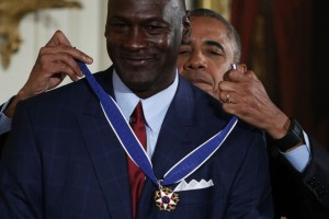 Michael Jordan receives Presidential Medal of Freedom