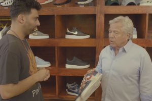 Patriots Owner Robert Kraft Goes Sneaker Shopping