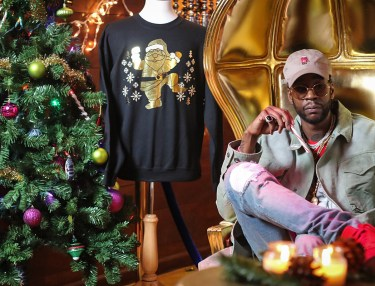 2 Chain Gold Ugly Christmas Sweater