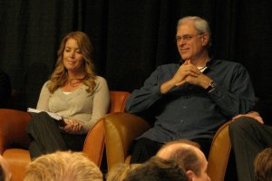 Jeanie Buss and Phil Jackson
