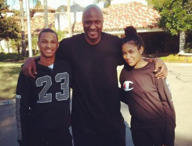 Lamar Odom and family