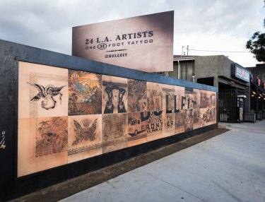 Bulleit Launches 1st Ever Tattoo Billboard in LA