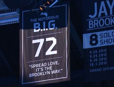 Diddy & Brooklyn Nets Honor the Notorious B.I.G.