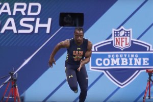 John Ross at the NFL Combine