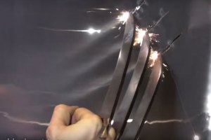 Real Wolverine Claws Cut Through Metal