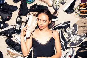 Emily Oberg Shows Off Her Sneaker Closet