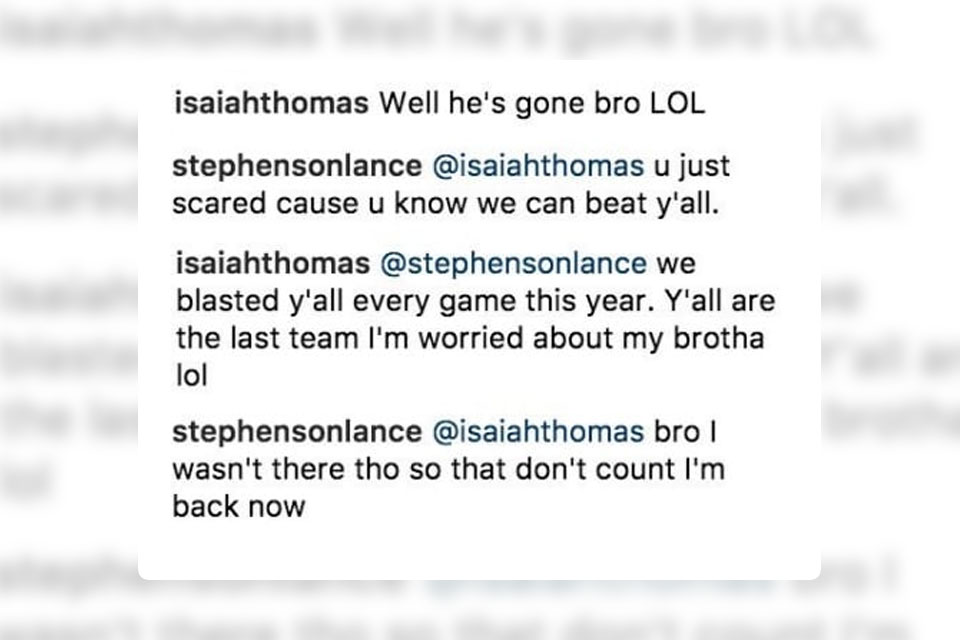 Isaiah Thomas Exchanges Disses With Lance Stephenson on Instagram