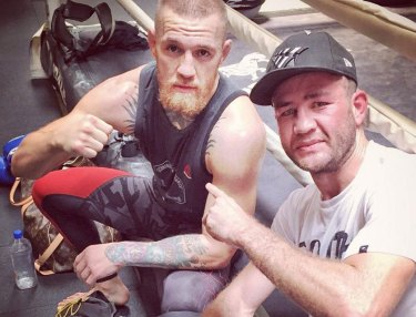 Conor McGregor and Chris van Heerden