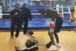 Deontay Wilder beats up Charlie Zelenoff