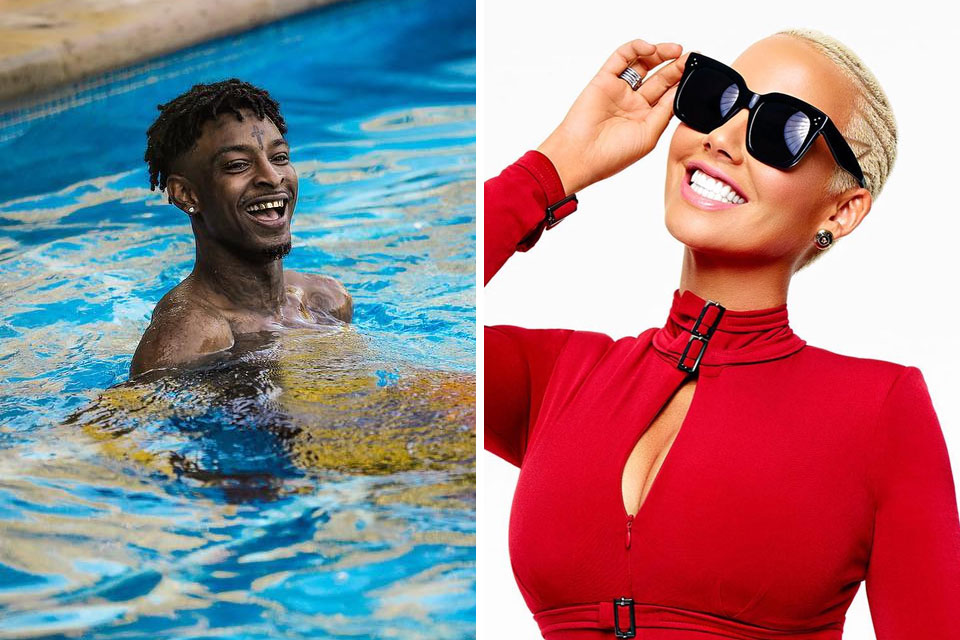 Amber Rose And 21 Savage Are Instagram Official