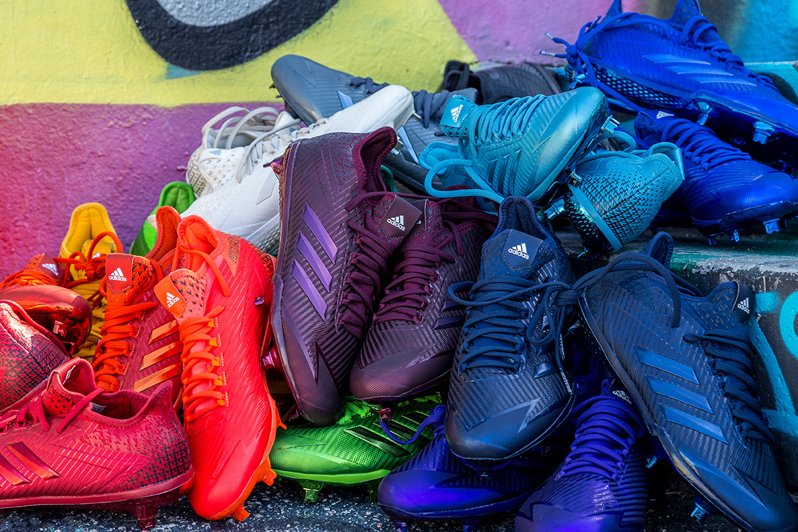 sports shoes b3557 d39be 2017 adizero Afterburner Dipped Cleat Collection