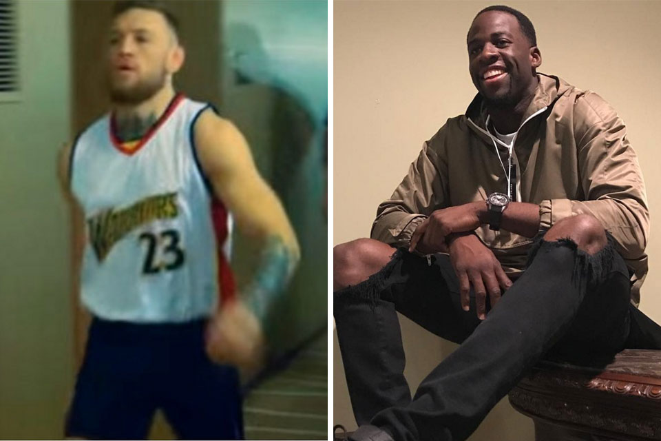 outlet store 280ab 7bbe7 Conor McGregor Trades Shots With Warriors' Draymond Green on IG
