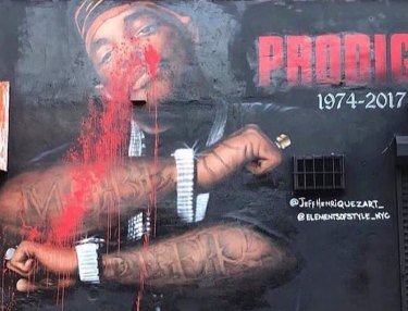 Prodigy Mural Defaced