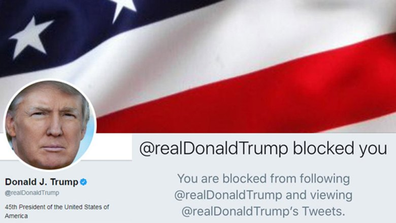 Donald Trump blocked Twitter users