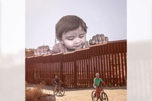 JR Art Installation at US-Mexico Border