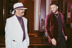 Drake and dad Dennis Graham