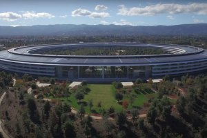 Drone Footage of Apple's New Campus